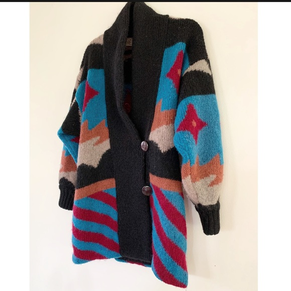 Vintage 80s wool cardigan by Falcon